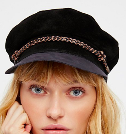 Brixton Kayla Leather Lieutenant Hat