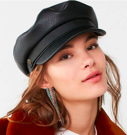 Brixton + UO Fiddler Faux Leather Fisherman Hat