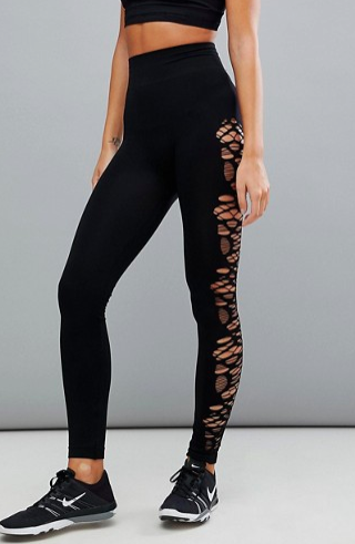 New Look Seam Free Ladder Cut Out Leggings