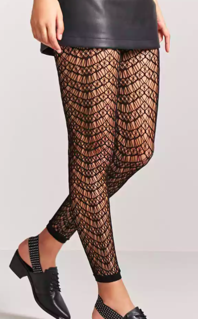 Forever 21 Footless Geo Cutout Tights