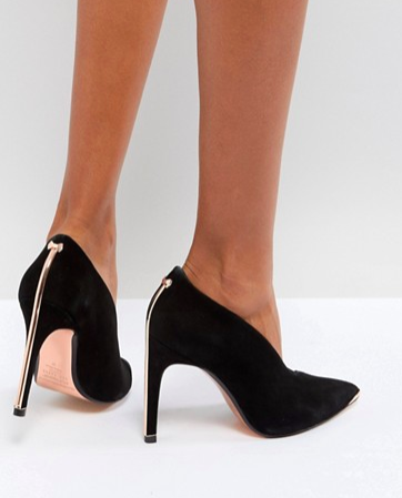 Ted Baker High Vamp Heeled Shoes with Metal Bow