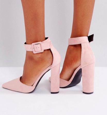 Glamorous Nude Heeled Shoes