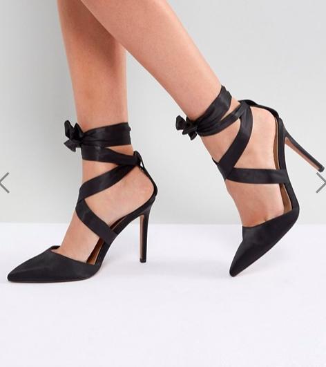 ASOS PINOT Satin Lace Up Heels