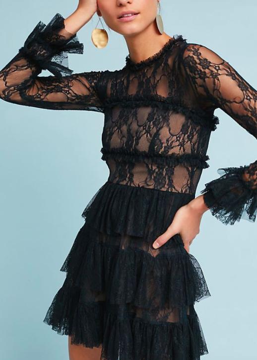 BAILEY 44 Petite Laced & Ruffled Dress