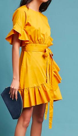 Cynthia Rowley Ruffled Mini Dress