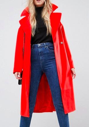 ASOS Oversized Coat with Pocket Detail
