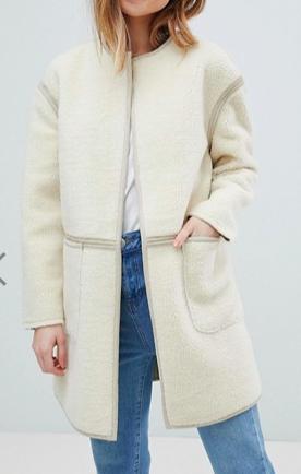 New Look Petite Collarless Coat