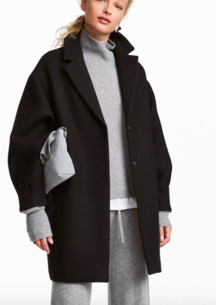 HM Short Wool-blend Coat