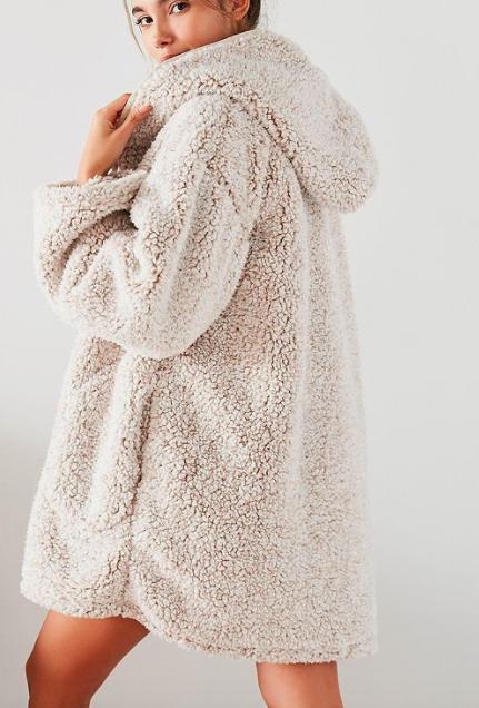 UO Shaila Oversized Fuzzy Jacket