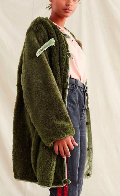 Vintage Reversible Cozy Surplus Coat