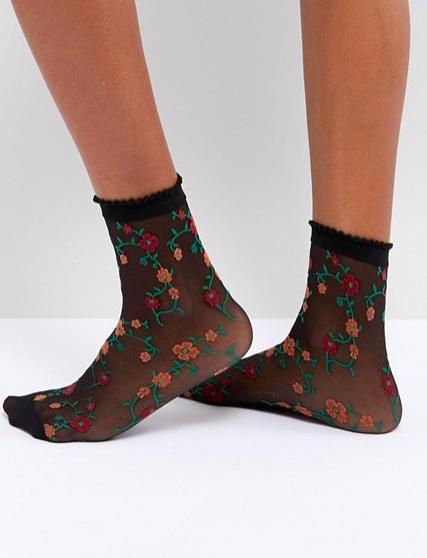 ASOS Sheer Floral Socks