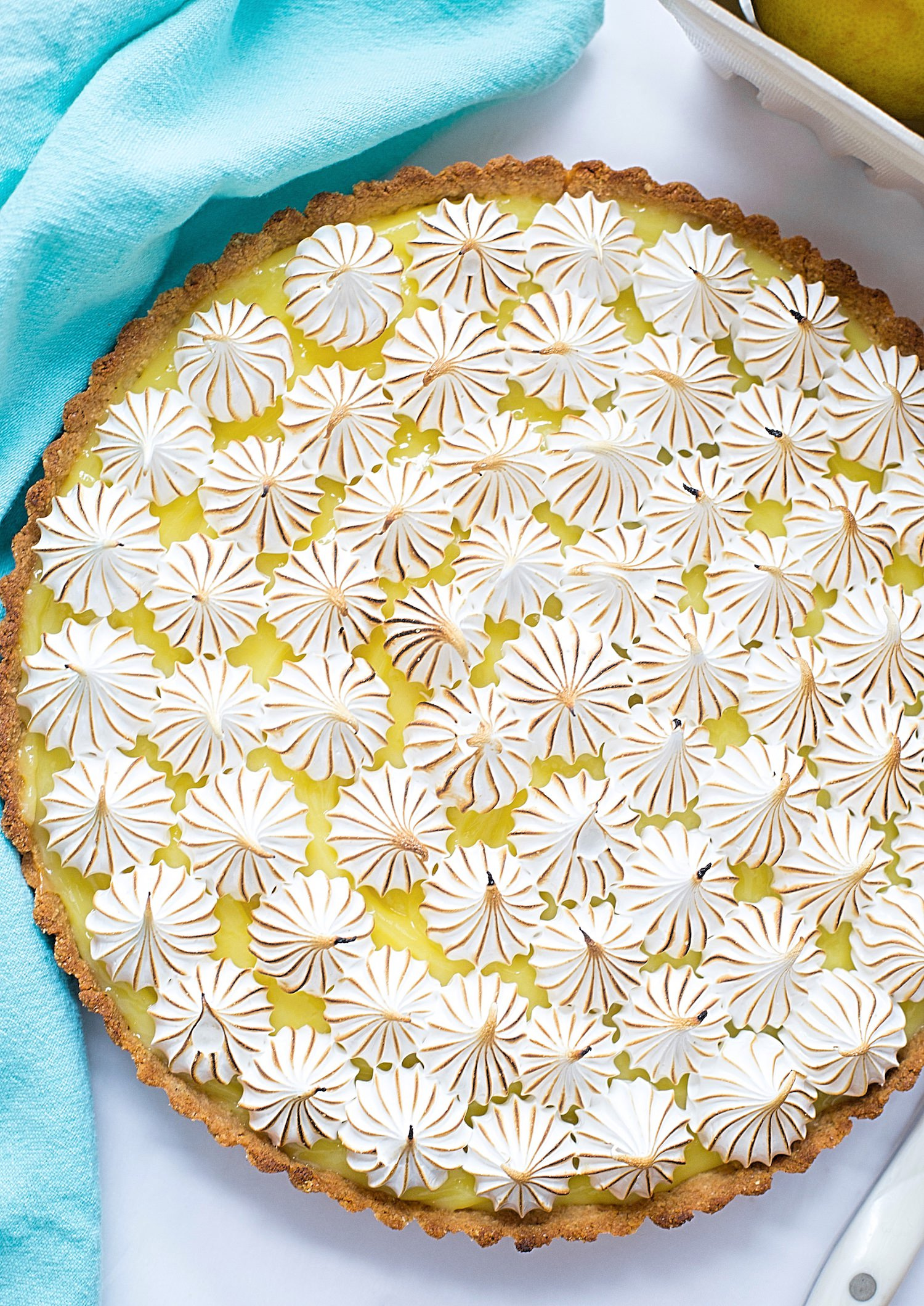 pesach lemon meringie pie 2.jpgPassover Lemon Meringue Pie (Gluten-Free): tasty almond flour crust, tart and creamy lemon filling, and sweet, marshmallow-like meringue topping. | TrufflesandTrends.com