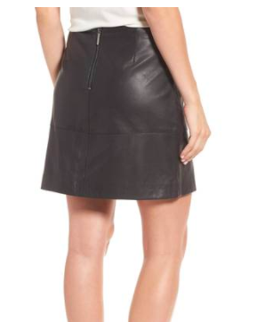 Leather Miniskirt KENNETH COLE NEW YORK