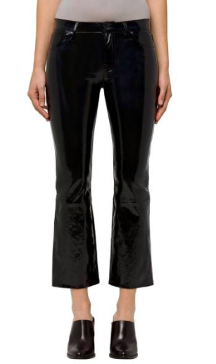 Selena Crop Bootcut Patent Leather Jeans J BRAND