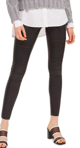 Skinny Faux Leather Biker Pants TOPSHOP