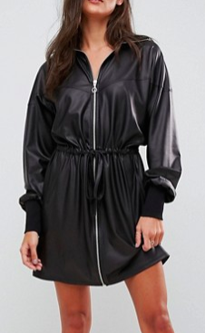 ASOS Faux Leather Track Dress