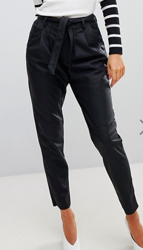 Vero Moda Paperbag Waist Leather Look PANTS