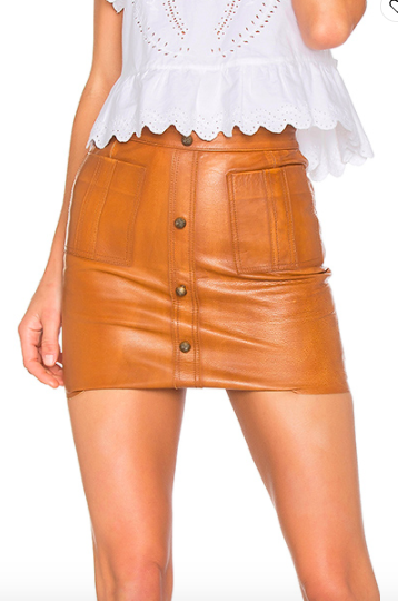 SHRIMPTON LEATHER MINI SKIRT  AJE Aje