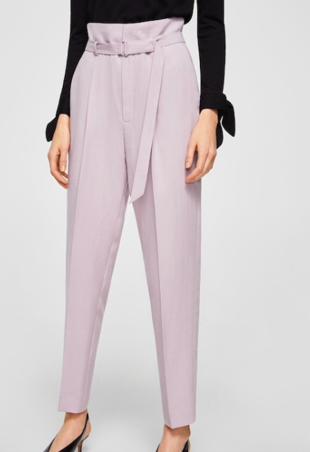 Mango Buckle high-waist trouser