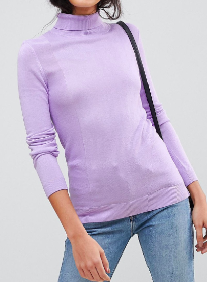 ASOS TALL Sweater with Roll Neck and Rib Detail