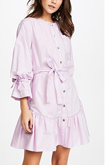 La Vie Rebecca Taylor Long Sleeve Poplin Dress