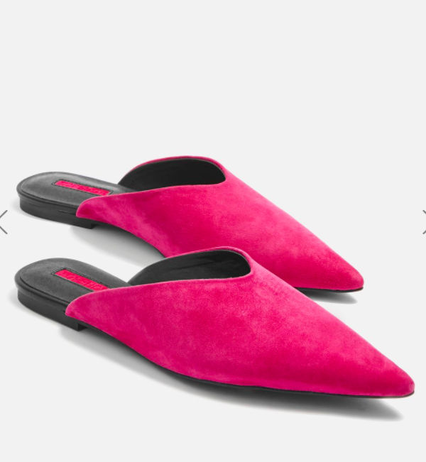 TOPSHOP Pink Kilo Pointed Mules