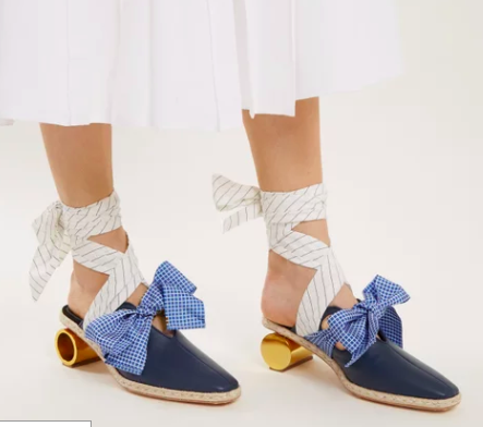 JW ANDERSON  Cylinder-heel leather mules