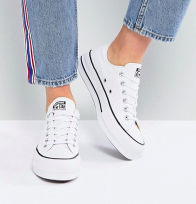 Converse Chuck Taylor All Star Platform Ox Sneakers In White