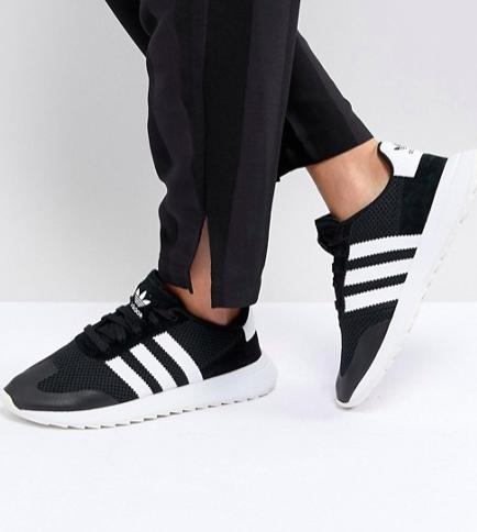 adidas Originals FLB Runner Sneakers In Black