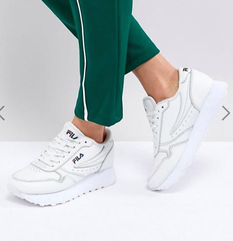 Fila Platform Orbit Sneakers In White