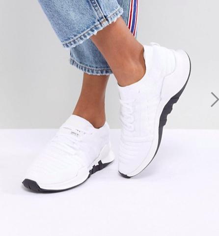 adidas Originals EQT Racing Adv Primeknit Sneakers In White