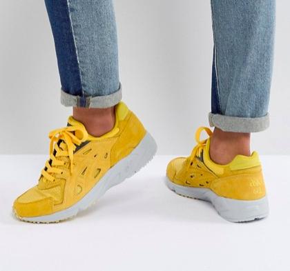 Asics Gel Sneakers In Yellow