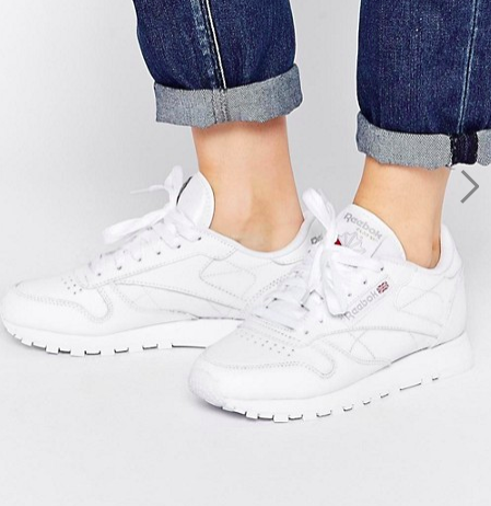 Reebok Classic Leather Sneakers In White