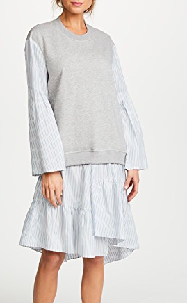 3.1 Phillip Lim Combo French Terry Dress