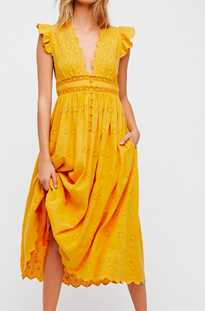 FP Peach Pie Midi Dress