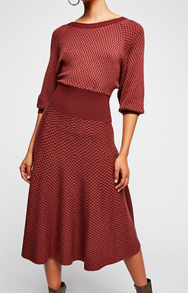 FP Begin Again Sweater Dress