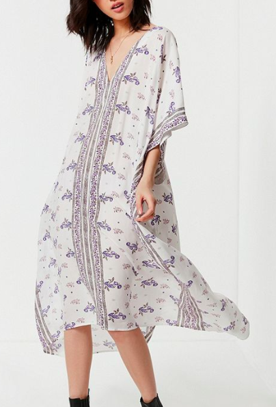 UO Oversized Kaftan Maxi Dress