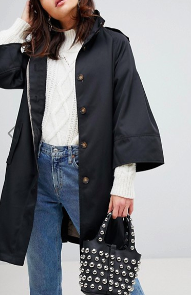Vero Moda Trench With Fluted Sleeves