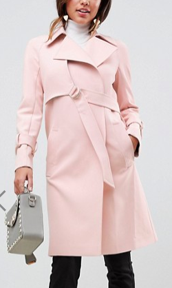ASOS Bonded Trench with D-Rings