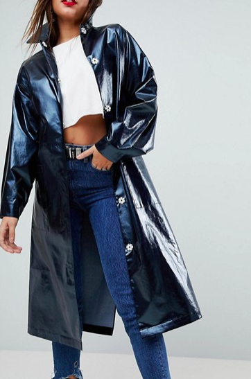 ASOS Trench in High Shine