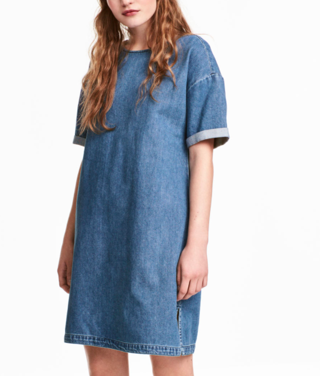 HM Denim T-shirt Dress