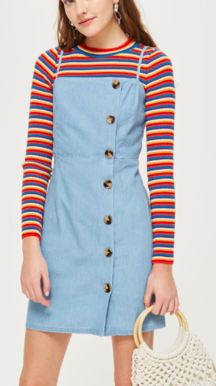 Topshop Horn Button Mini Dress