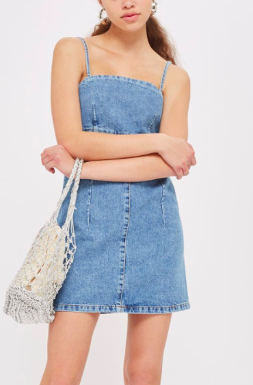 Topshop Bodycon Denim Dress