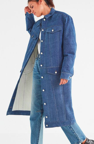 Rocket X Lunch Long Denim Coat