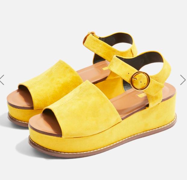 Topshop Wow Platform Wedge Sandals
