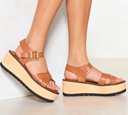 Nasty Gal Love On Top Platform Sandal