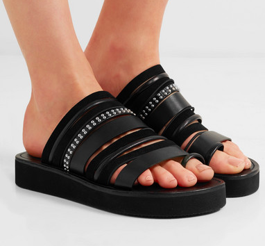 3.1 PHILLIP LIM Eva studded leather and suede sandals