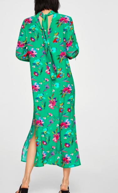 Mango Bow floral dress