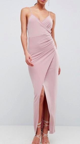 ASOS DESIGN slinky drape maxi dress