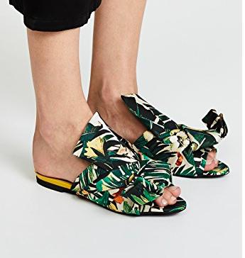 No. 21 Jacquard Knot Slide Sandals